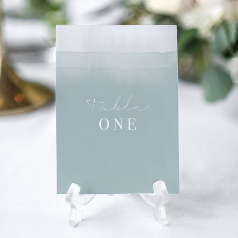 'Dusty Blue' Table Numbers