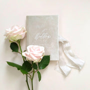 Velvet Luxury Wedding planner book - Cream