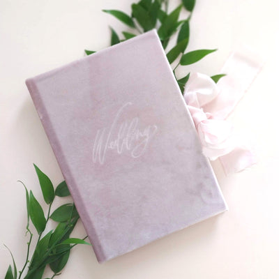 Velvet Luxury Wedding planner book - Blueberry