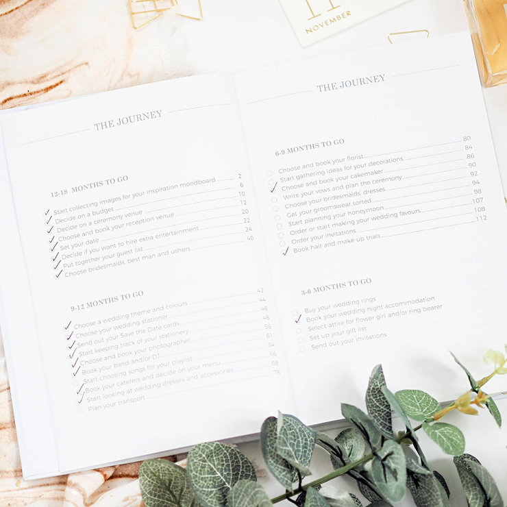 Personalised - Marble and Gold Foil Luxury Wedding Planner