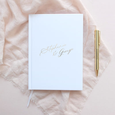 Personalised - White and Gold Foil Luxury Wedding Planner