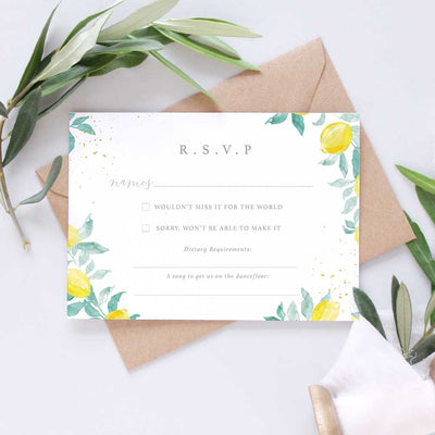 elegant Italian wedding rsvp