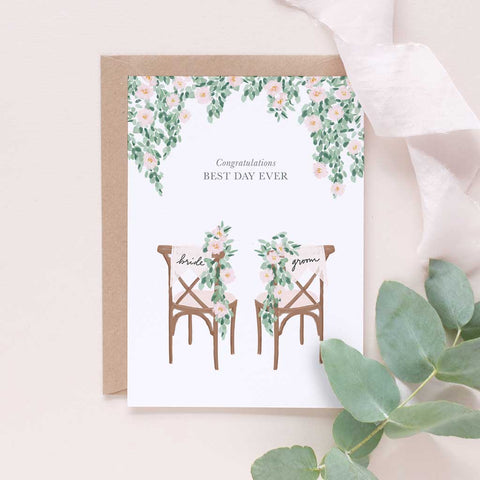 Best Day Ever - Happily Ever After Congratulations Card