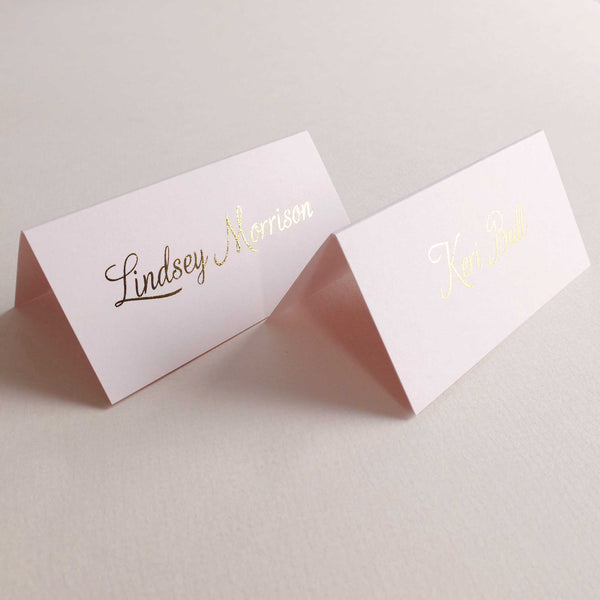'Blush and Gold' Place Cards - The Luxe Collection Foil