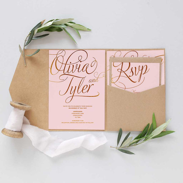 glitter gold wedding invitation package