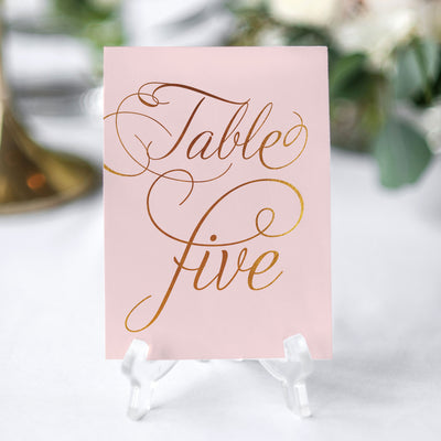 ELEGANT SIMPE TABLE NUMBER FOR WEDDING