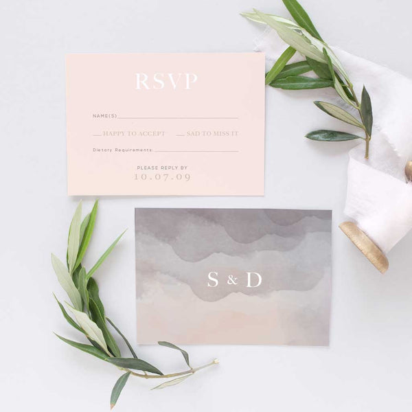 'Stonewash' Classic Wedding Invitation Package