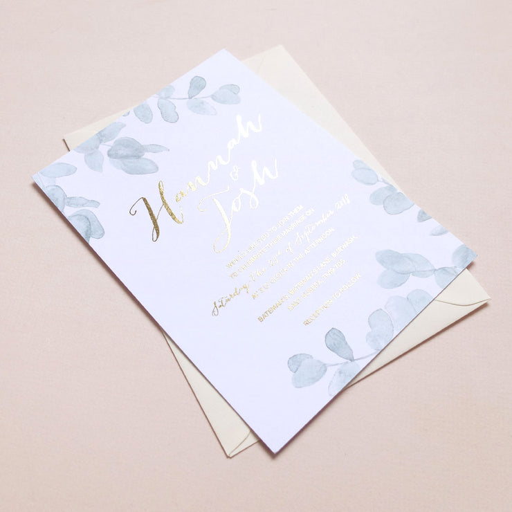 Eucalyptus Invite - The Luxe Collection Foil