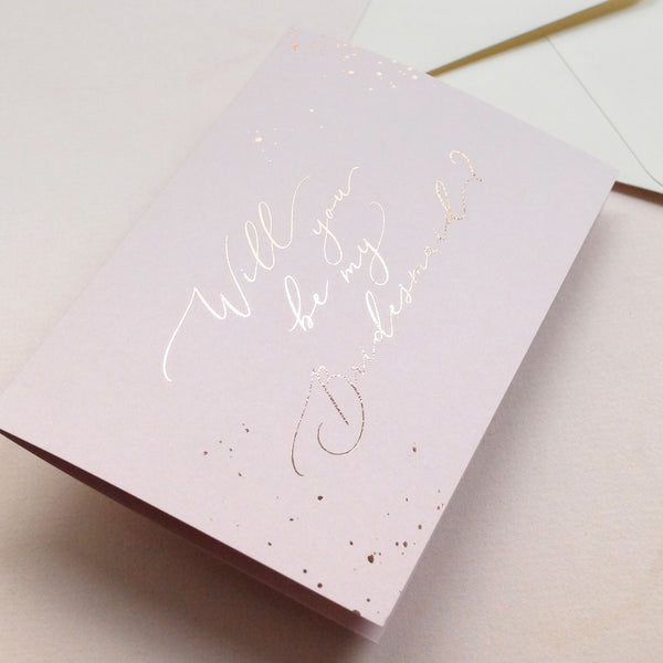 'Will you be my Bridesmaid' card - Pink