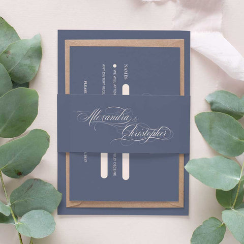 calligraphy wedding invitation package