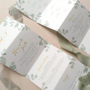 'Eucalyptus' Concertina Wedding Invitation Package