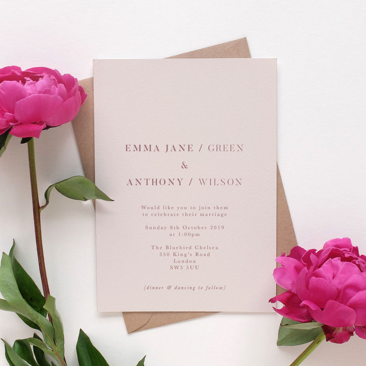 modern wedding invite package