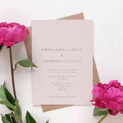 'Paris' Wedding Invitation