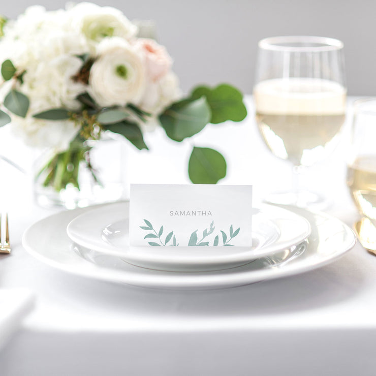 elegant simple name card for wedding