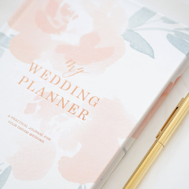 Watercolour Flowers Peonies Wedding planner book