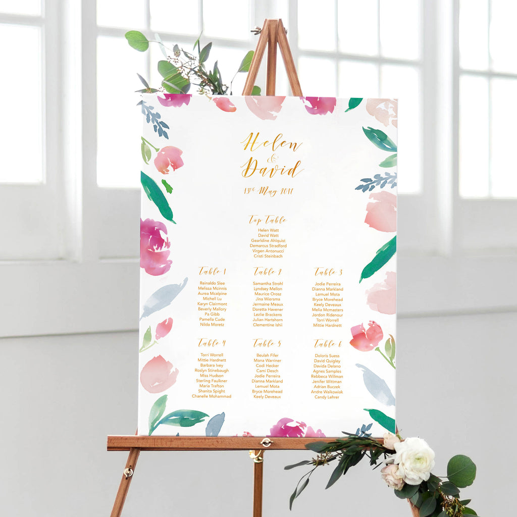 'Flora' Table Plan