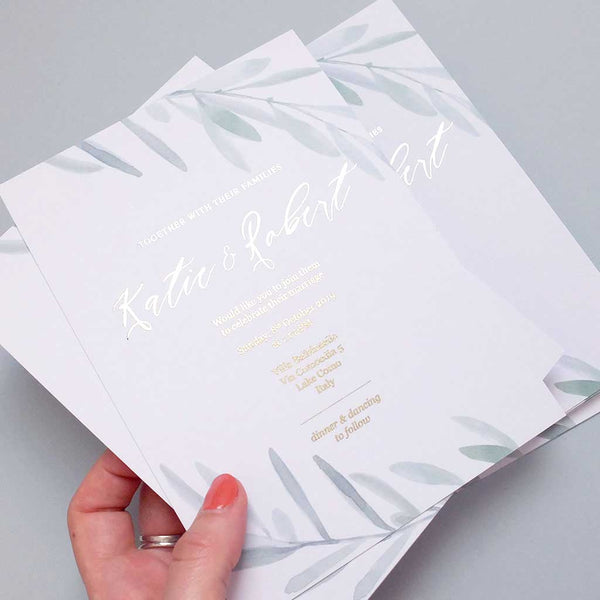Olive Invite - The Luxe Collection Foil
