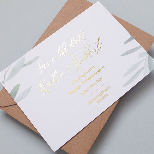 Olive Save the date - The Luxe Collection Foil