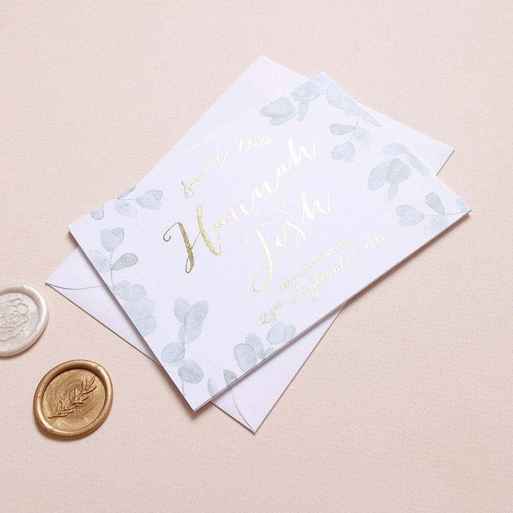 Eucalyptus Save the date - The Luxe Collection Foil