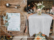 green foliage wedding menu