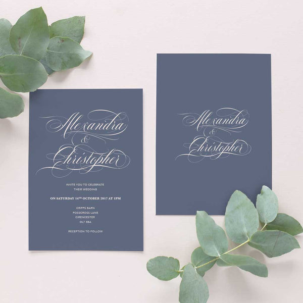 calligraphy invitation simple