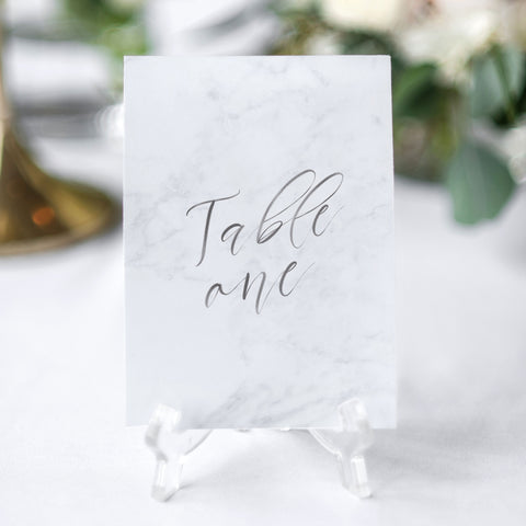grey marble table number