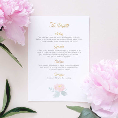 elegant watercolour flowers invite