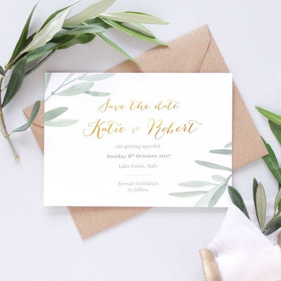 Italian wedding save the date card