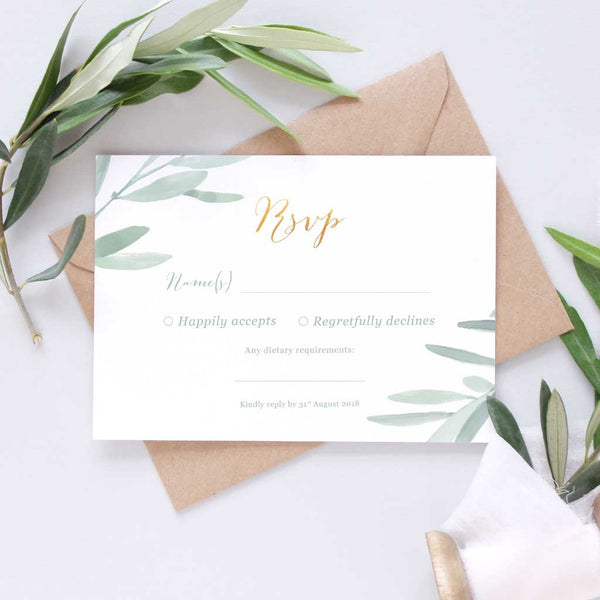 elegant italian RSVP for weddings
