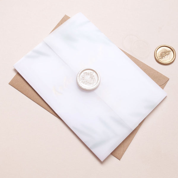 Wax Seal Olive Invite - The Luxe Collection Foil