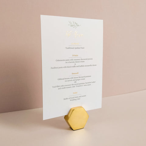 Olive Menu Card - The Luxe Collection *Foil*