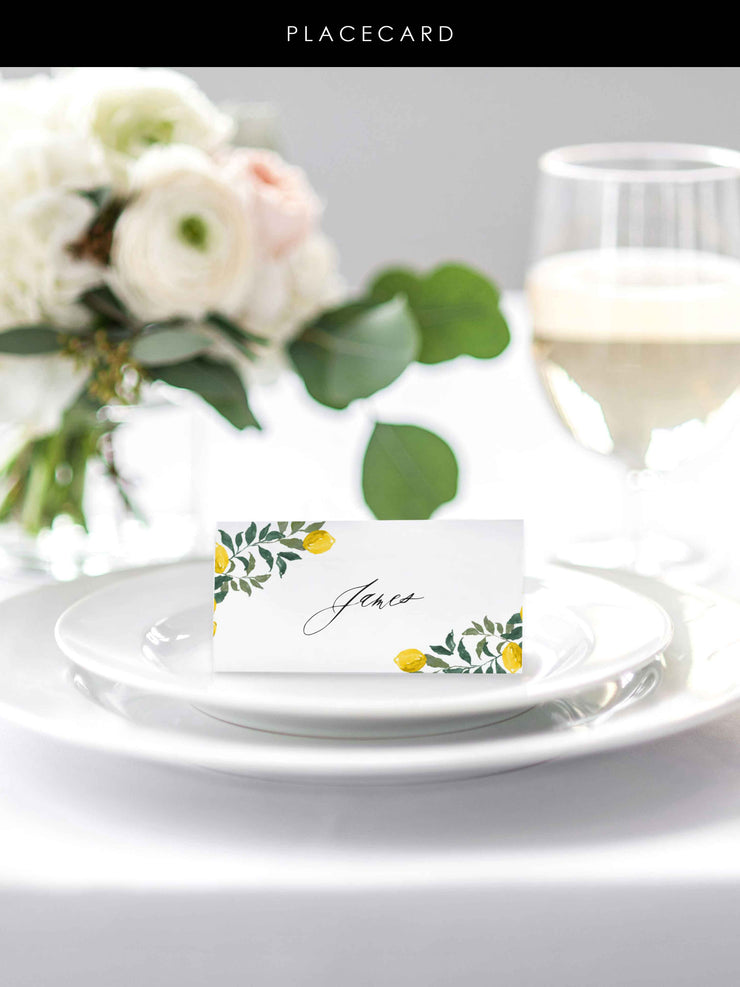 'Amalfi' Place Cards