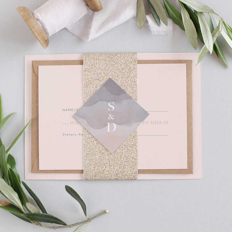 'Stonewash' Debut Wedding Invitation Package