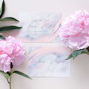 marble calligraphy save the date