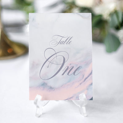 marble table number for weddings