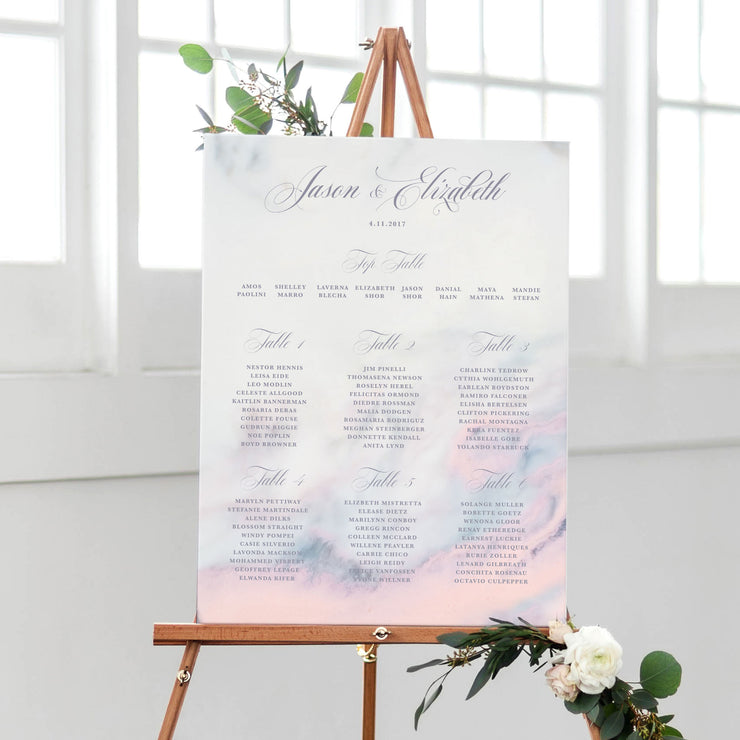 marble wedding table plan