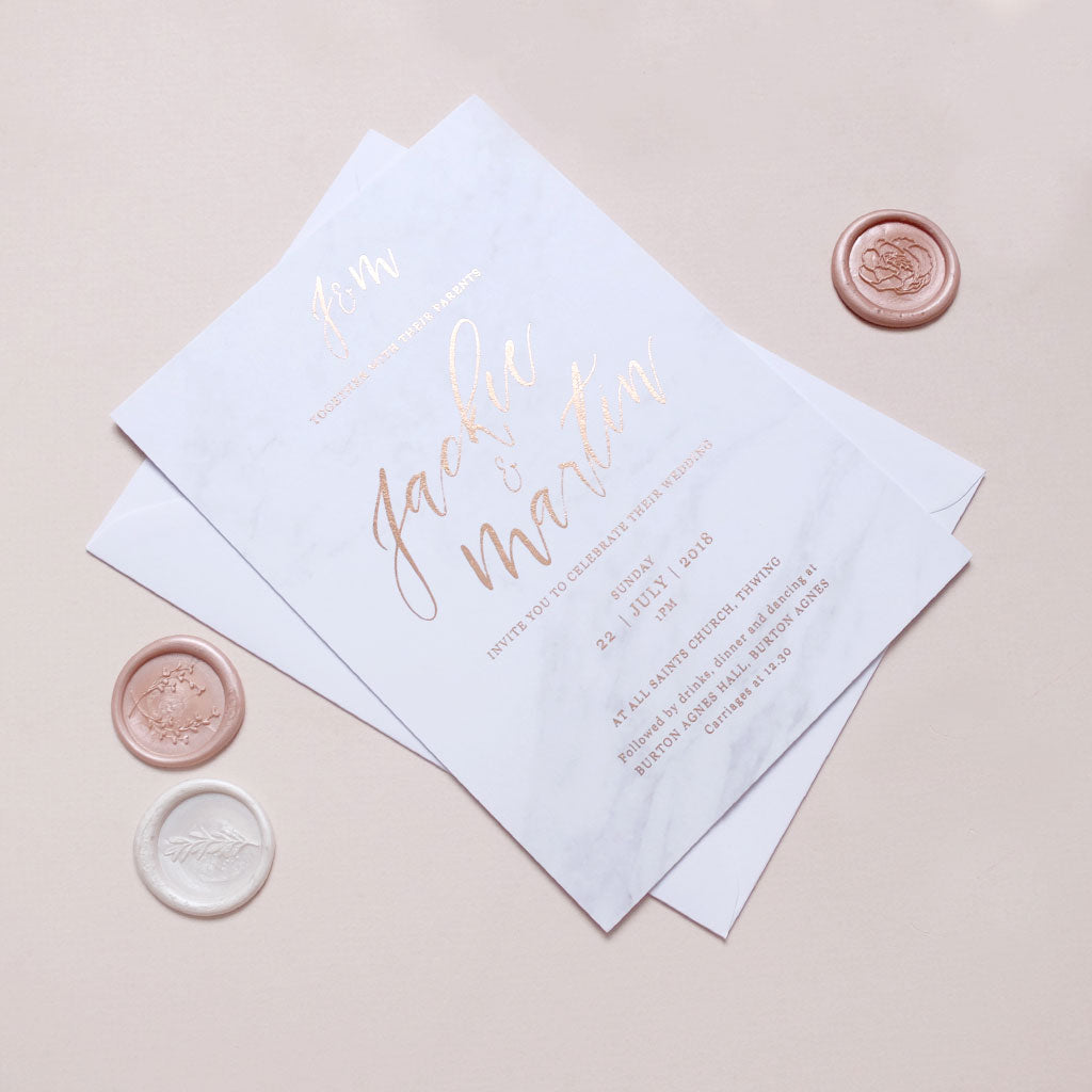 Marble Invite - The Luxe Collection Foil