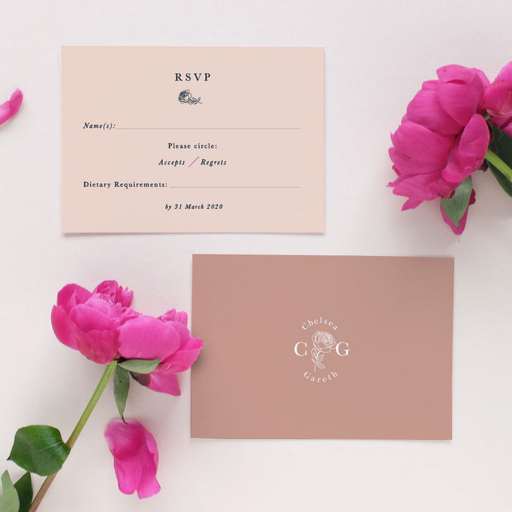 simple wedding rsvp card