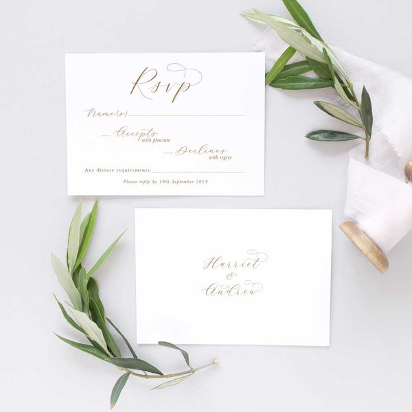 simple rsvp card for weddings