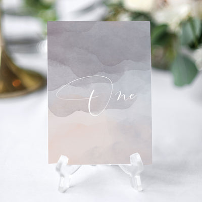 elegant minimalist table number for weddings