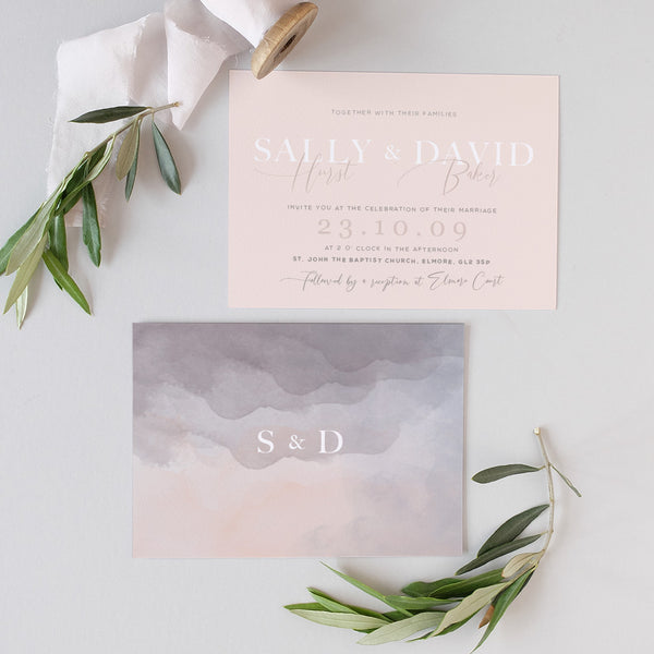 minimal wedding invite