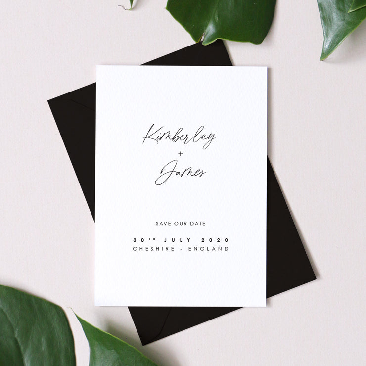 minimalist save the date for weddings