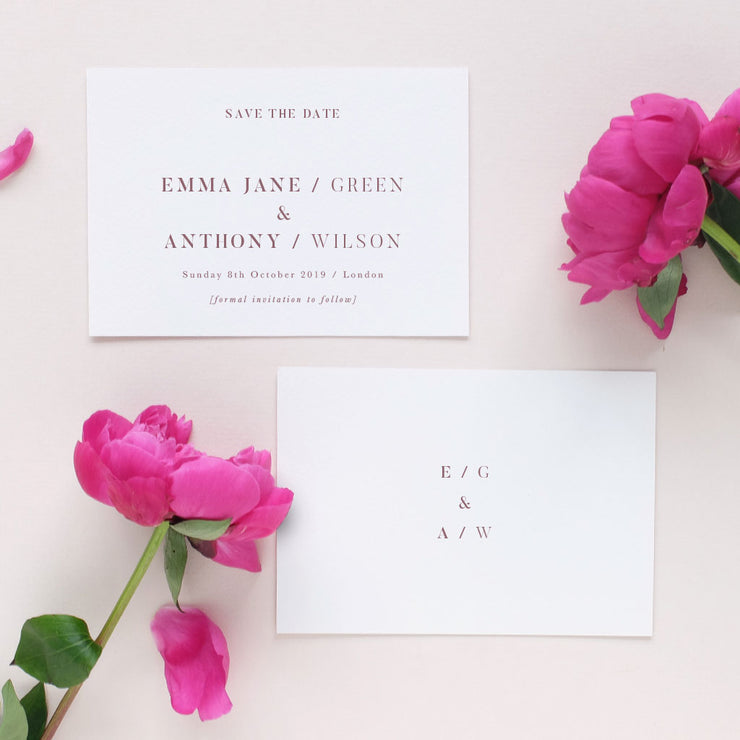 simple elegant wedding save the date