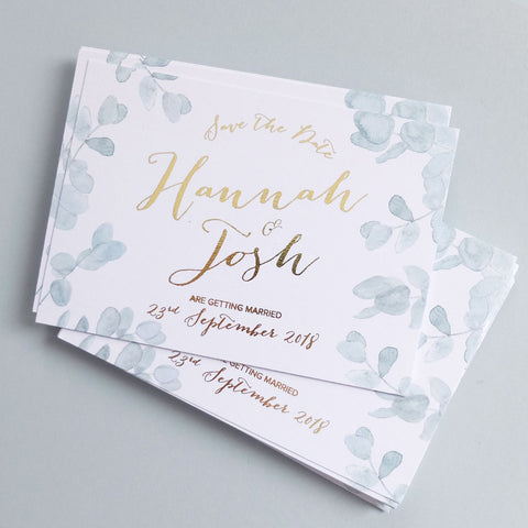 eucalyptus save the date foil