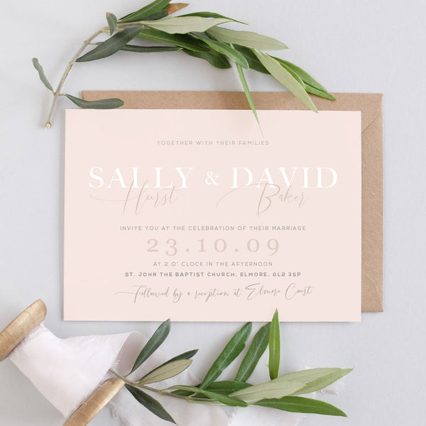 simple wedding invitation