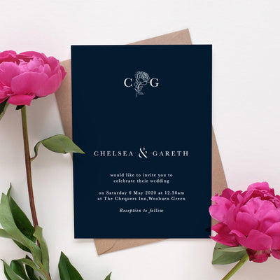 minimalist modern wedding invitation