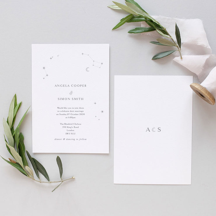 mystical wedding invitation
