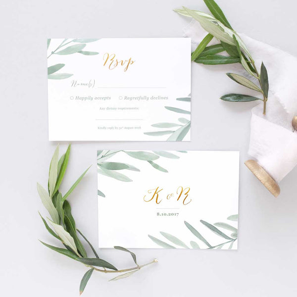 rustic RSVP wedding