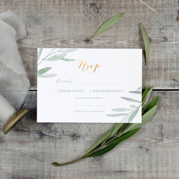 elegant RSVP for weddings