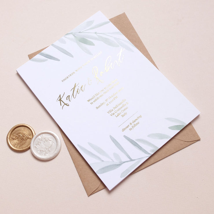 Olive Invite - The Luxe Collection *Foil*